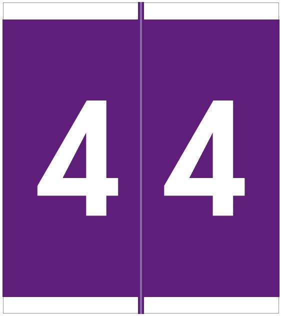 Barkley FNAVM Match AVNM Series Numeric Roll Labels - Number 4 - Purple