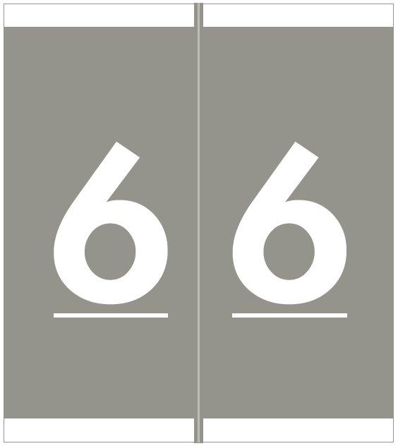 Barkley FNAVM Match AVNM Series Numeric Roll Labels - Number 6 - Gray