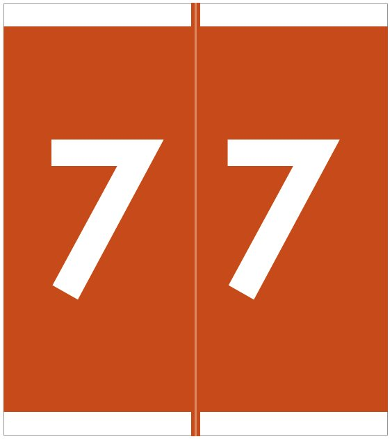 Barkley FNAVM Match AVNM Series Numeric Roll Labels - Number 7 - Brown