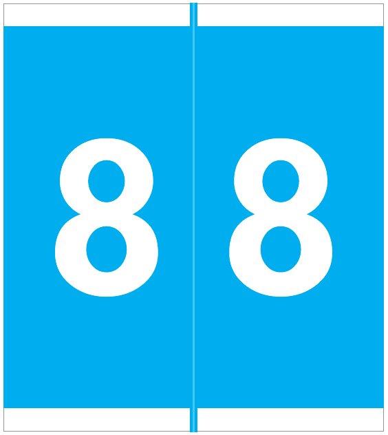 Barkley FNAVM Match AVNM Series Numeric Roll Labels - Number 8 - Blue