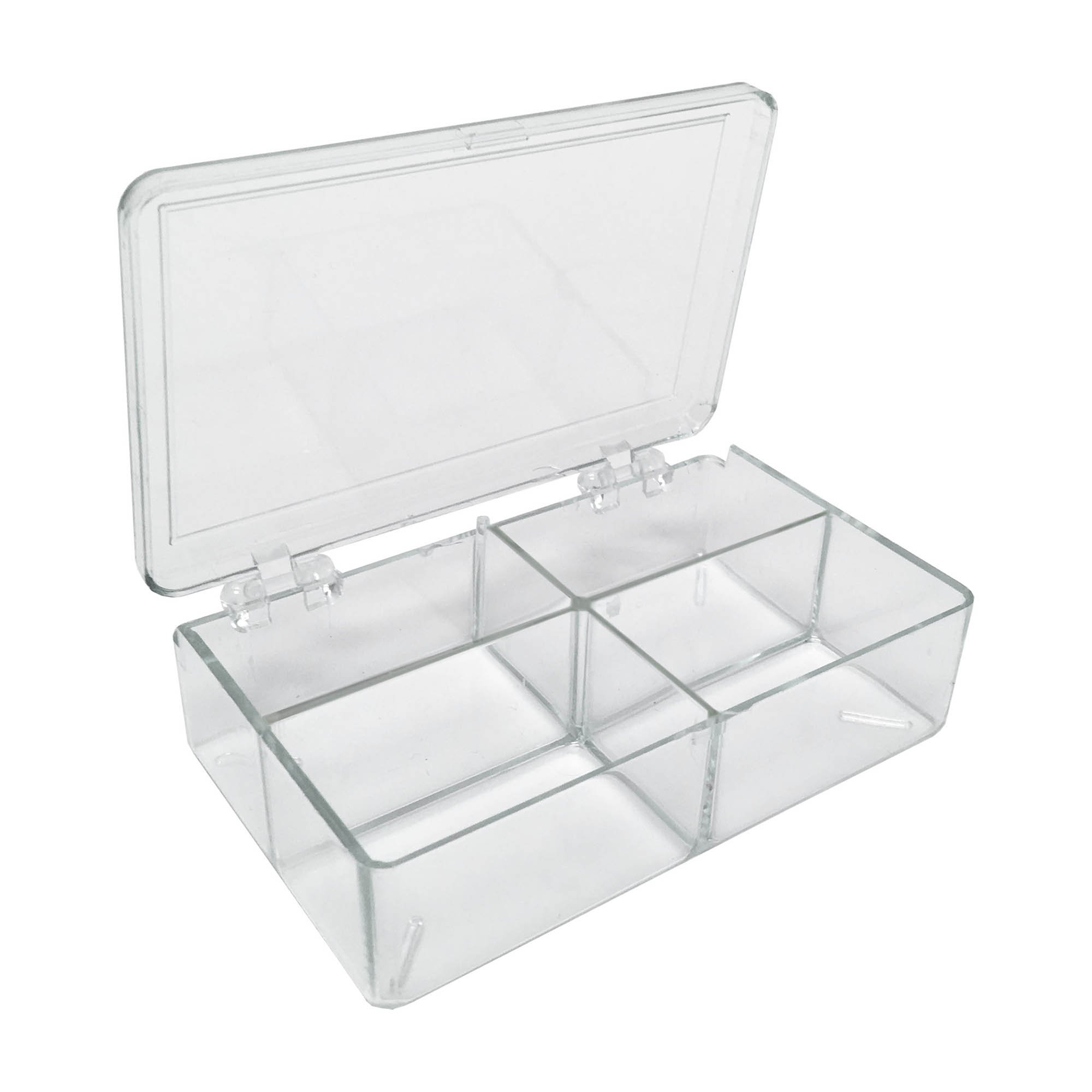 MultiBox Clear Western Blot Box - 4 Compartments 32 x 53 x 28mm Each (Case of 36)