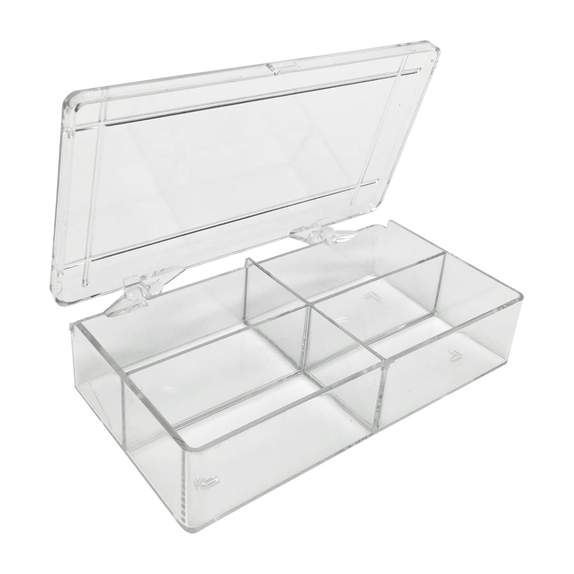 MultiBox Clear Western Blot Box - 4 Compartments 38 x 71 x 28mm Each (Case of 36)