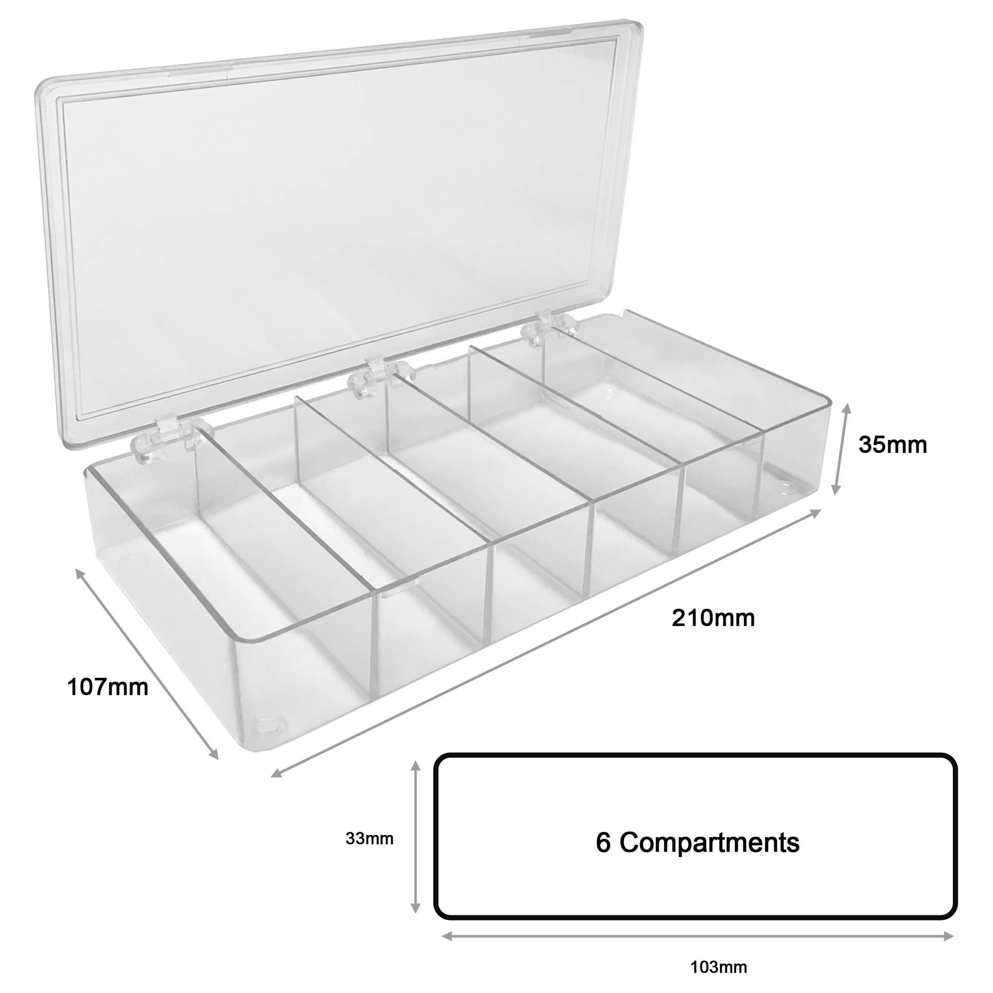MultiBox Clear Western Blot Box - 6 Compartments 33 x 103 x 35mm Each (Pack of 4)