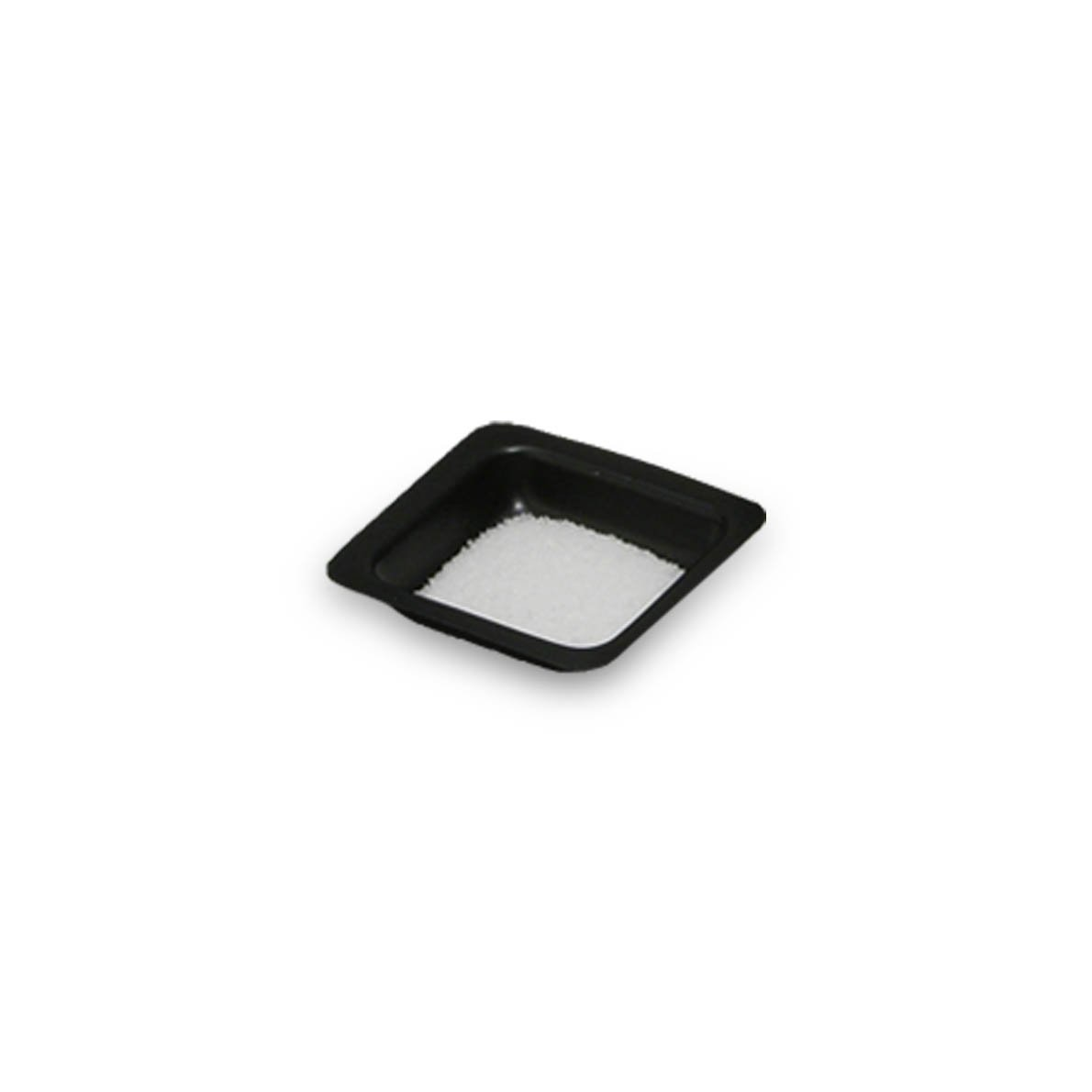 20mL Black Antistatic Polystyrene Square Weigh Boat (25 Packs/Case - 500/Pack)