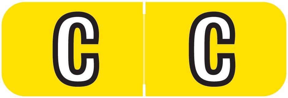 Barkley FABAM Match BAAM Series Alpha Roll Labels - Letter C - Yellow Label