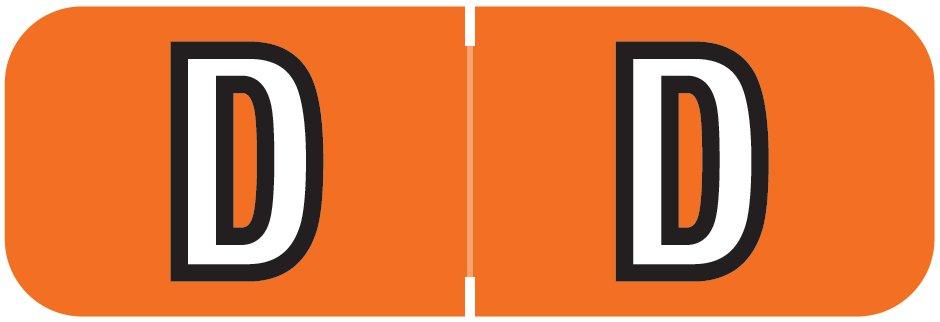 Barkley FABAM Match BAAM Series Alpha Roll Labels - Letter D - Dark Orange Label