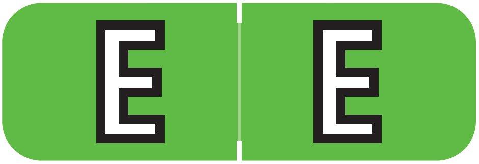 Barkley FABAM Match BAAM Series Alpha Roll Labels - Letter E - Light Green Label