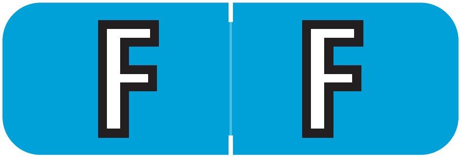 Barkley FABAM Match BAAM Series Alpha Roll Labels - Letter F - Blue Label