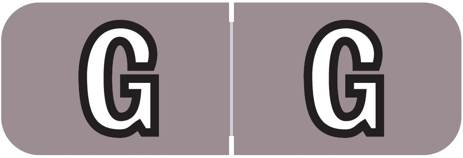 Barkley FABAM Match BAAM Series Alpha Roll Labels - Letter G - Lavender Label
