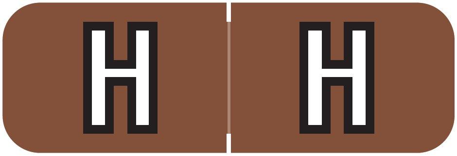Barkley FABAM Match BAAM Series Alpha Roll Labels - Letter H - Brown Label