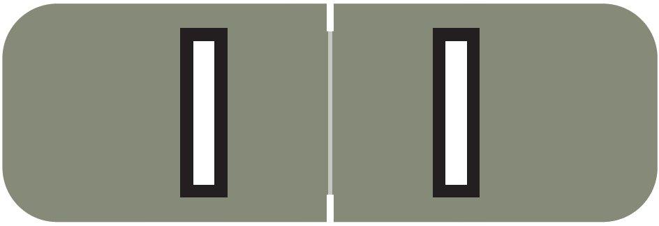 Barkley FABAM Match BAAM Series Alpha Roll Labels - Letter I - Gray Label