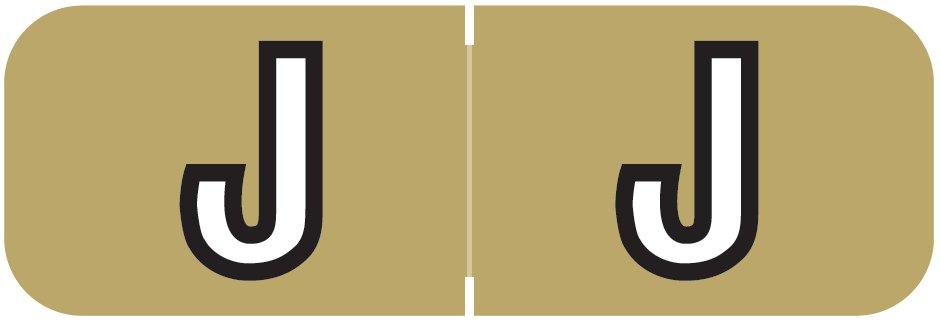 Barkley FABAM Match BAAM Series Alpha Roll Labels - Letter J - Gold Label