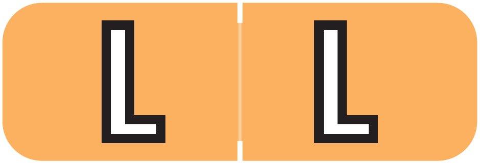 Barkley FABAM Match BAAM Series Alpha Roll Labels - Letter L - Light Orange Label