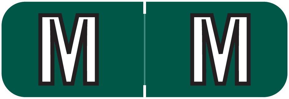 Barkley FABAM Match BAAM Series Alpha Roll Labels - Letter M - Dark Green Label