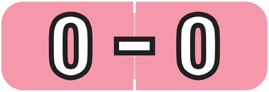 Barkley FABAM Match BAAM Series Alpha Roll Labels - Letter O - Pink Label