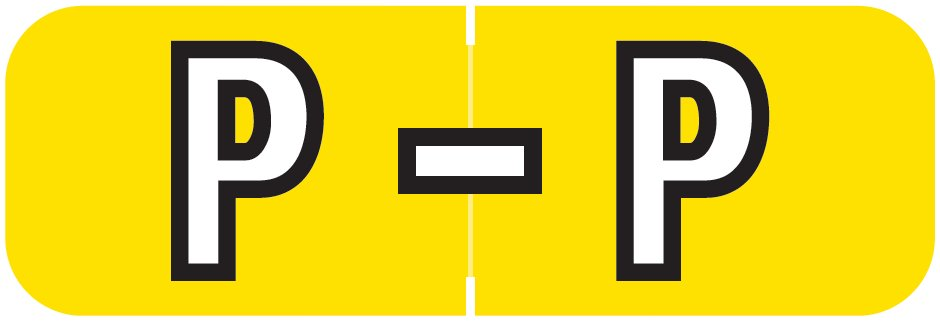 Barkley FABAM Match BAAM Series Alpha Roll Labels - Letter P - Yellow Label