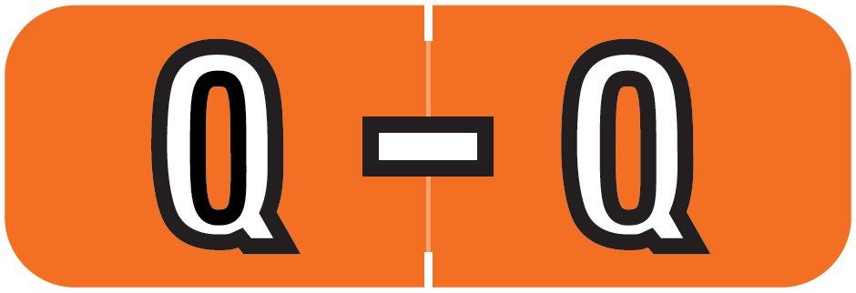 Barkley FABAM Match BAAM Series Alpha Roll Labels - Letter Q - Dark Orange Label