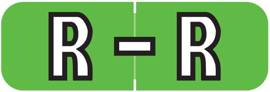 Barkley FABAM Match BAAM Series Alpha Roll Labels - Letter R - Light Green Label