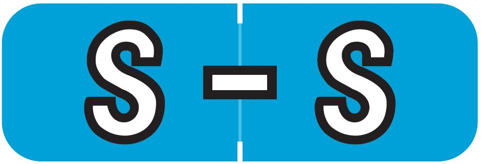 Barkley FABAM Match BAAM Series Alpha Roll Labels - Letter S - Blue Label