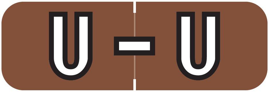 Barkley FABAM Match BAAM Series Alpha Roll Labels - Letter U - Brown Label
