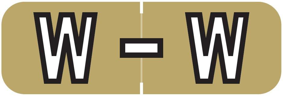 Barkley FABAM Match BAAM Series Alpha Roll Labels - Letter W - Gold Label