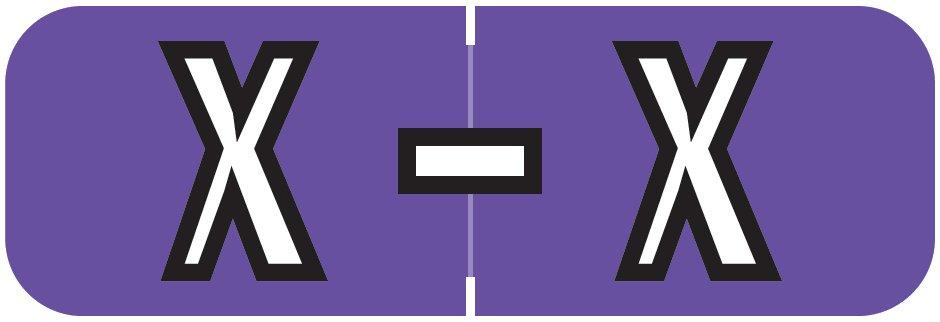 Barkley FABAM Match BAAM Series Alpha Roll Labels - Letter X - Purple Label