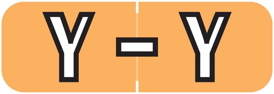 Barkley FABAM Match BAAM Series Alpha Roll Labels - Letter Y - Light Orange Label