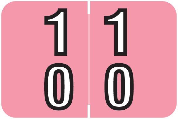 Barkley FDBKM Match BADM Series Numeric Roll Labels - Number 10 To 19 - Pink