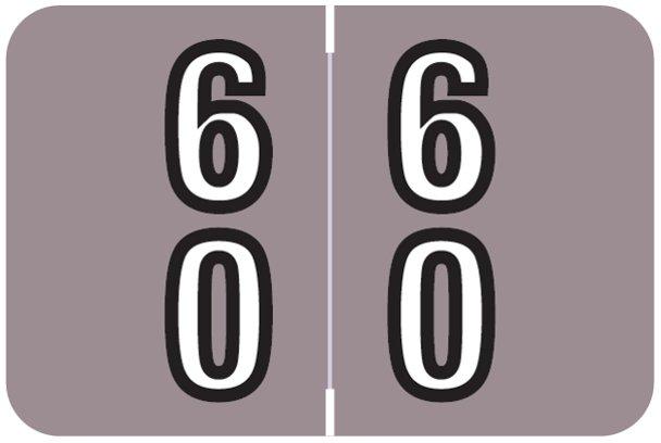 Barkley FDBKM Match BADM Series Numeric Roll Labels - Number 60 To 69 - Lavender