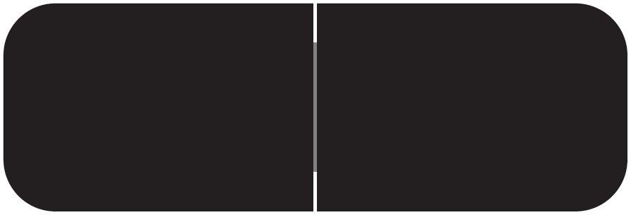 Barkley FXBAM Match BALM Series Solid Color Roll Labels - Black
