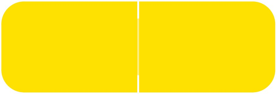 Barkley FXBAM Match BALM Series Solid Color Roll Labels - Yellow