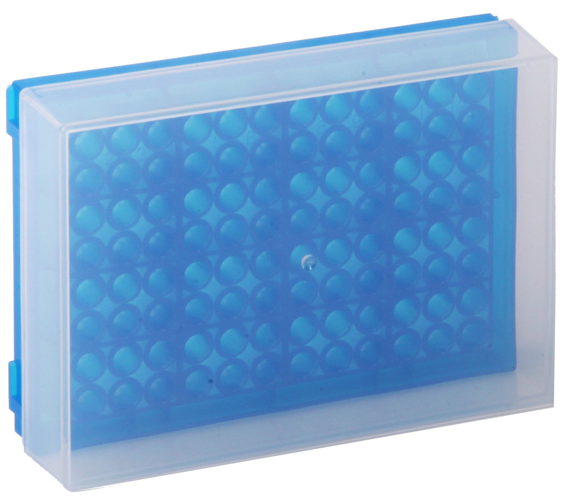 96-Well Preparation Rack with Cover - Fluorescent Blue
