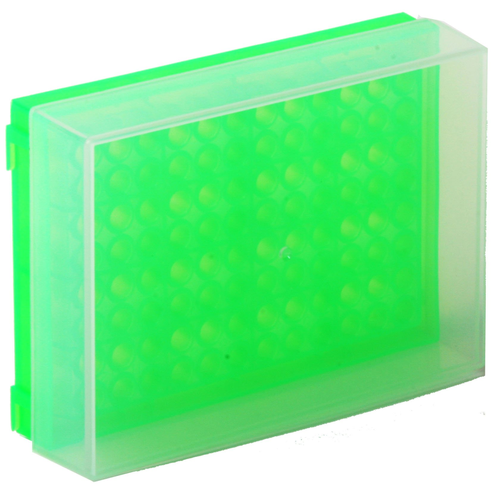 96-Well Preparation Rack with Cover - Fluorescent Green
