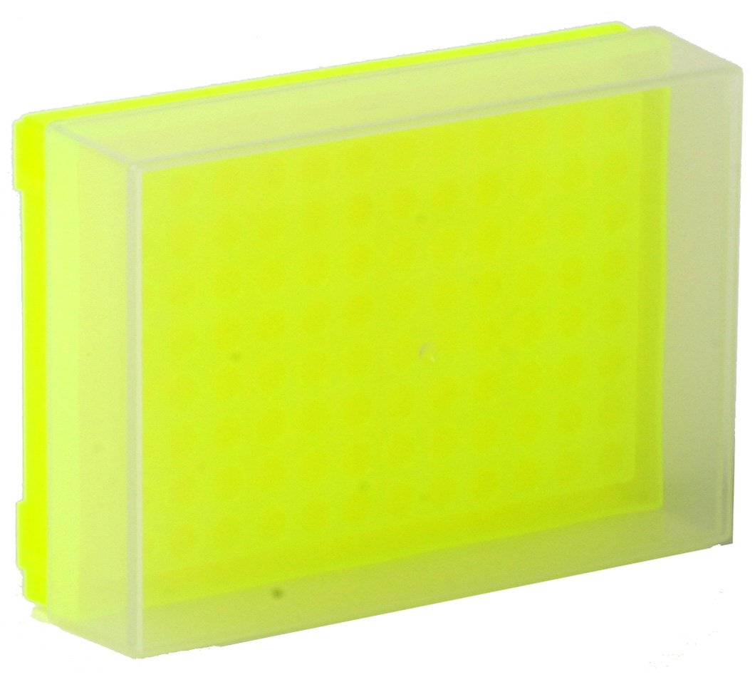 96-Well Preparation Rack with Cover - Fluorescent Yellow