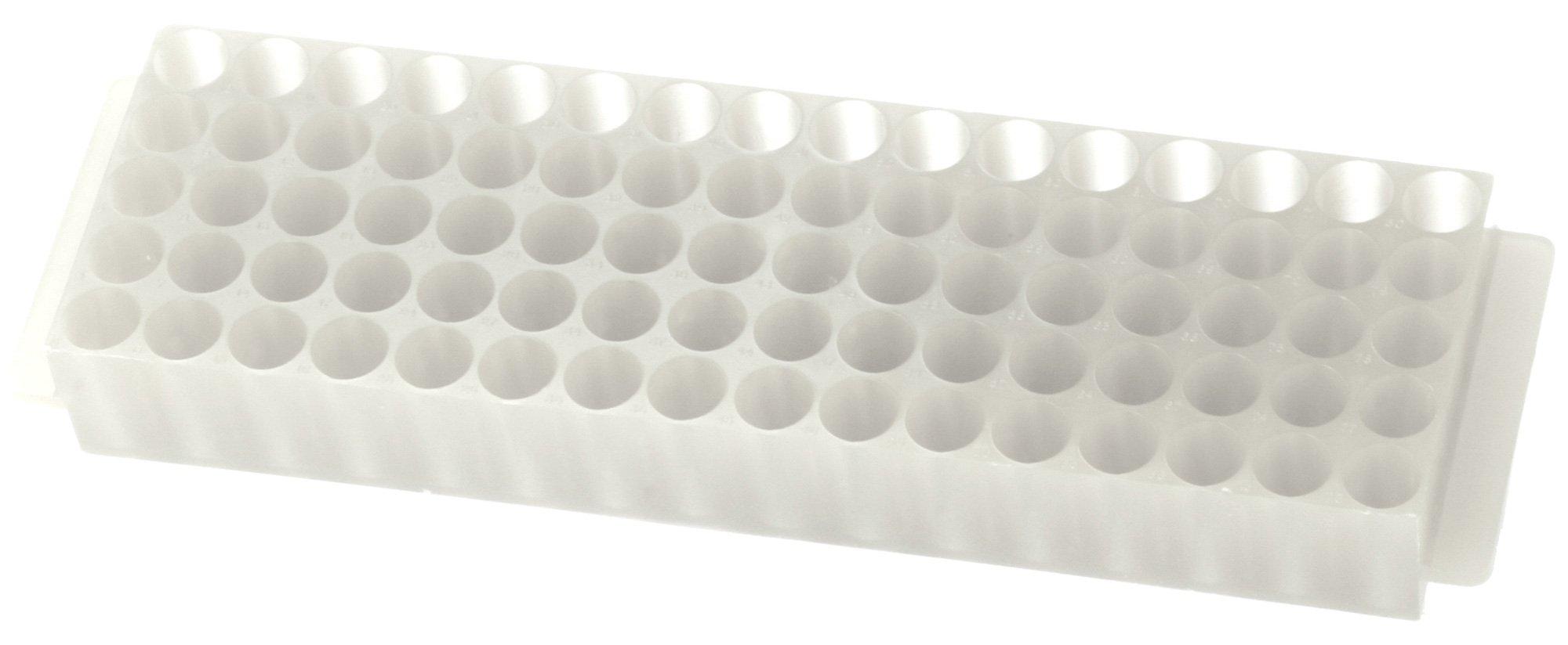 80-Well Microcentrifuge Tube Rack - Natural