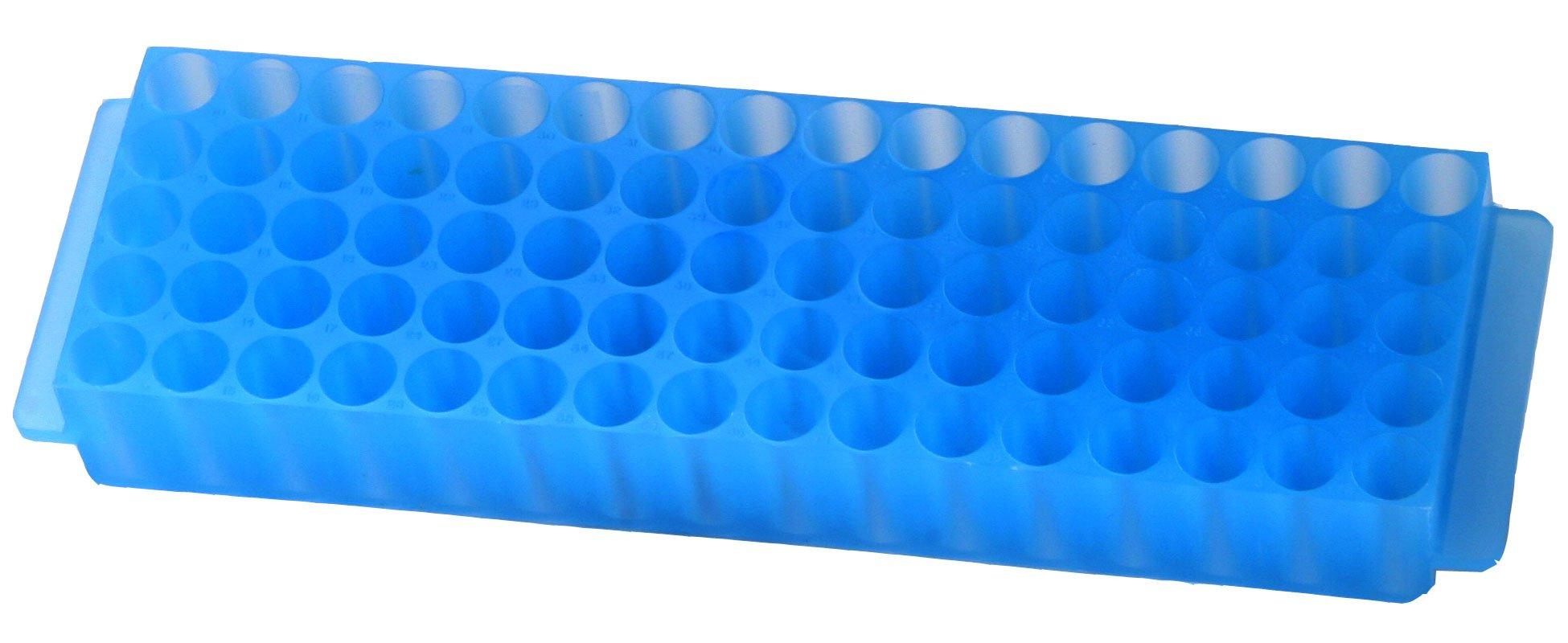 80-Well Microcentrifuge Tube Rack - Blue