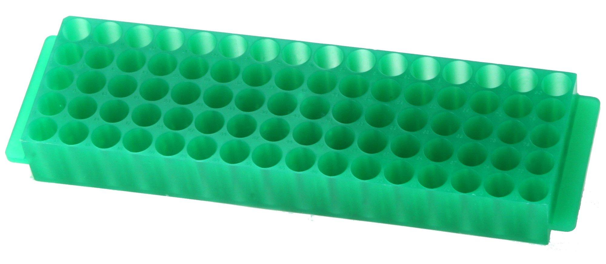 80-Well Microcentrifuge Tube Rack - Green