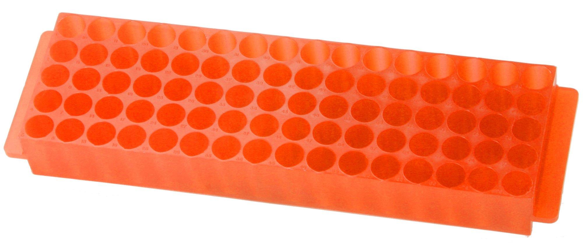80-Well Microcentrifuge Tube Rack - Orange