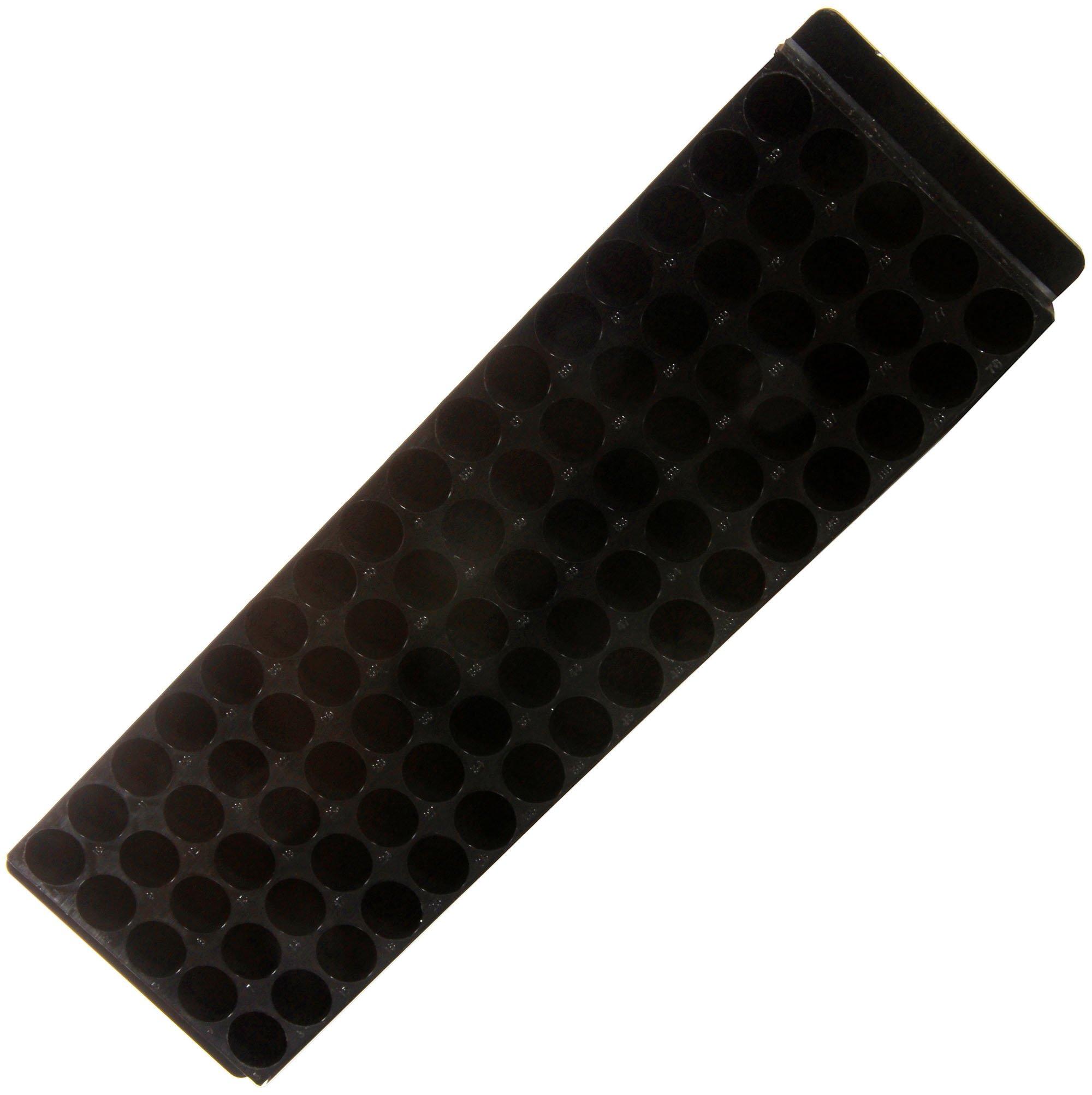 80-Well Microcentrifuge Tube Rack - Black
