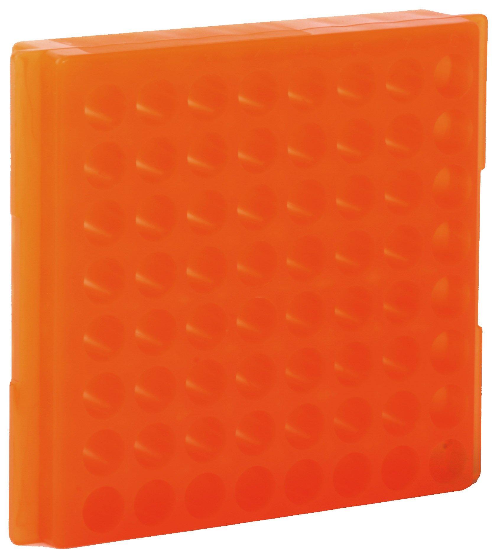 64-Well Microcentrifuge Tube Rack - Orange
