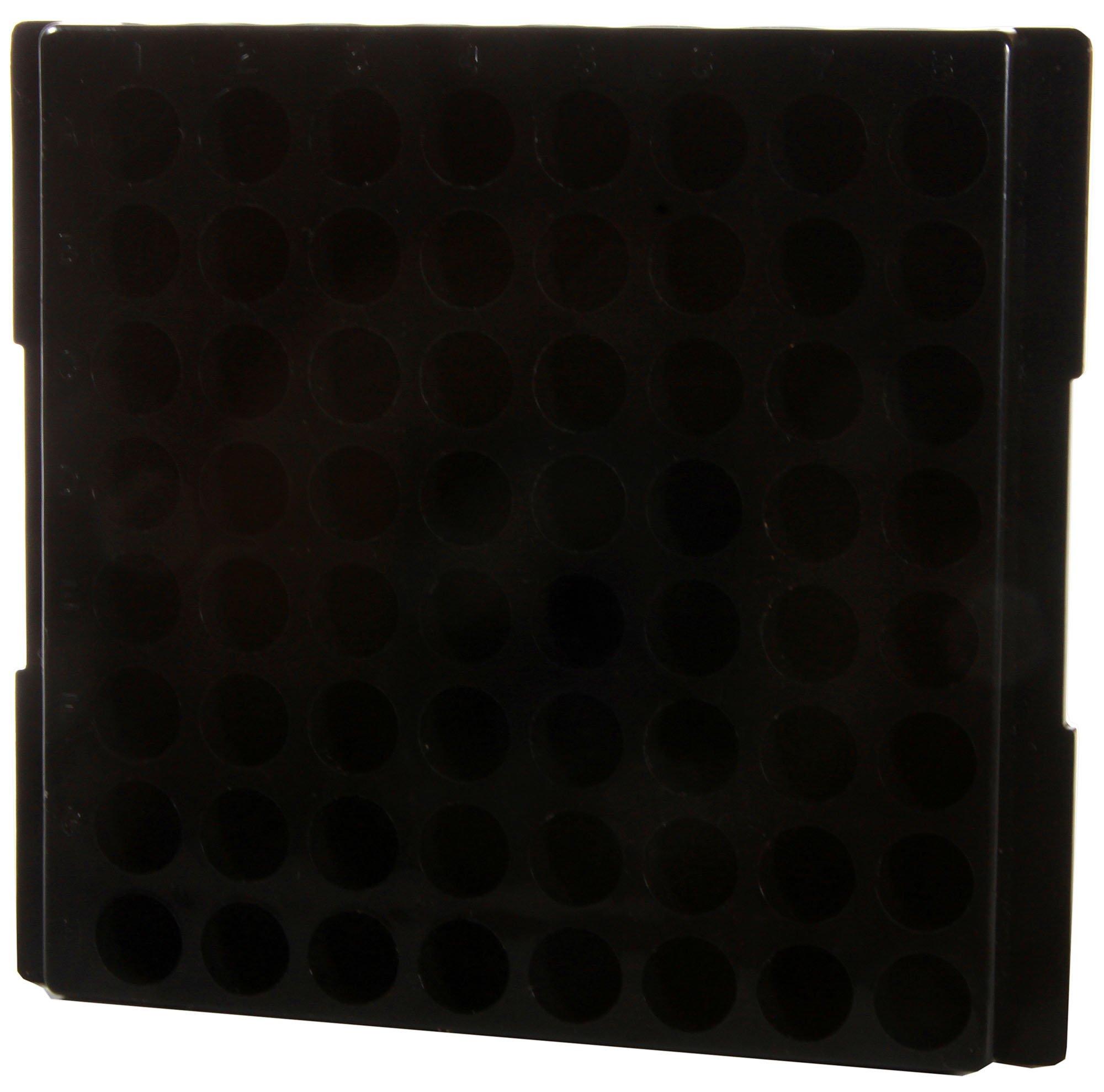64-Well Microcentrifuge Tube Rack - Black