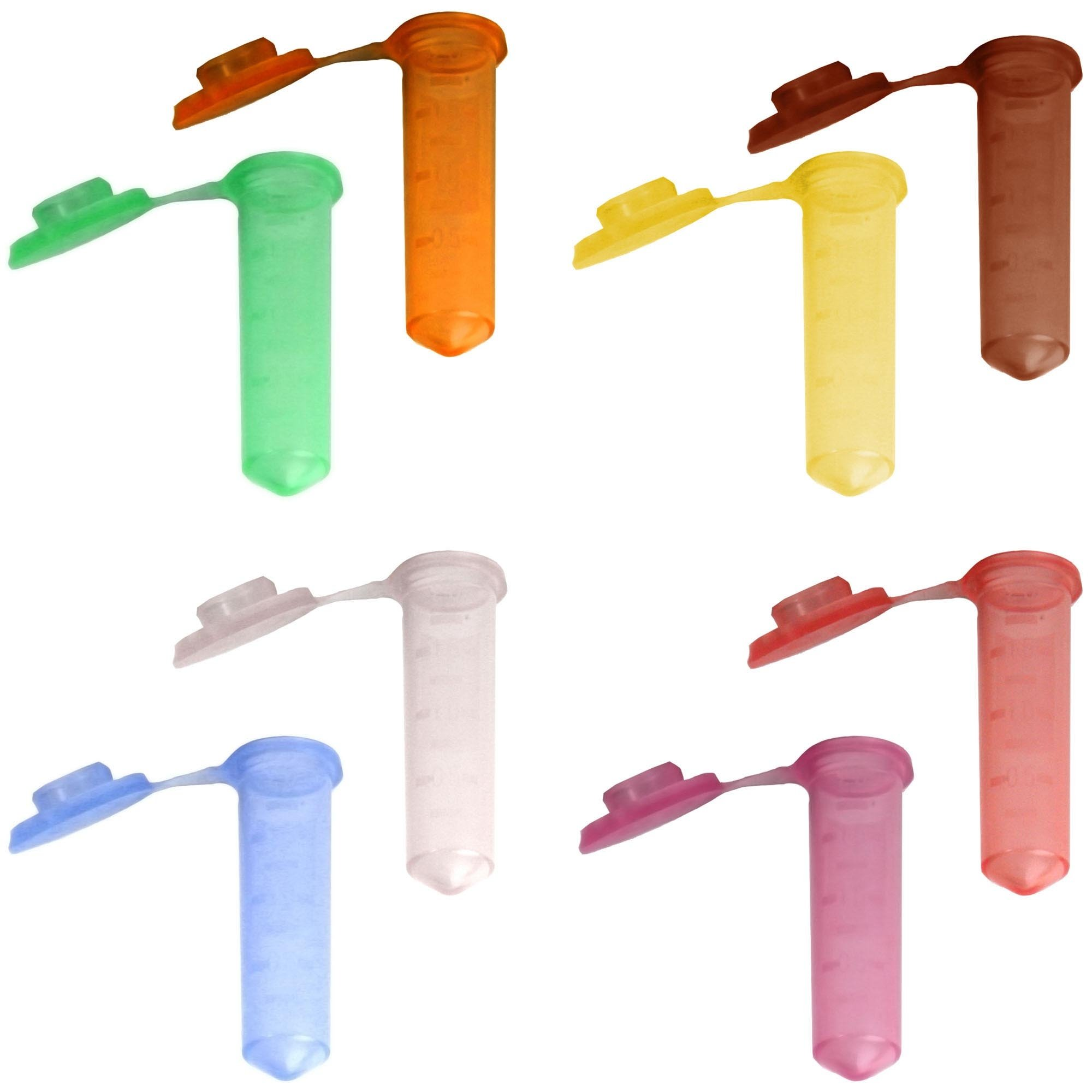 2.0mL G-Tube Flat Top Microcentrifuge Tube - Rainbow