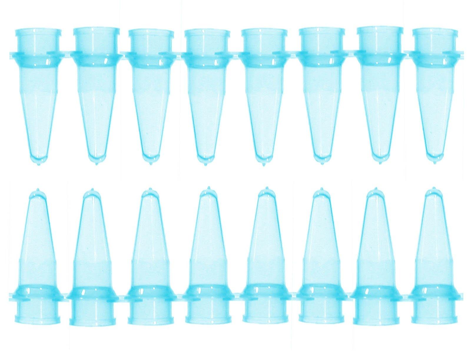 0.2mL Thin Wall Micro Tube - 8 Tubes/Strip - Blue (Pack of 125)