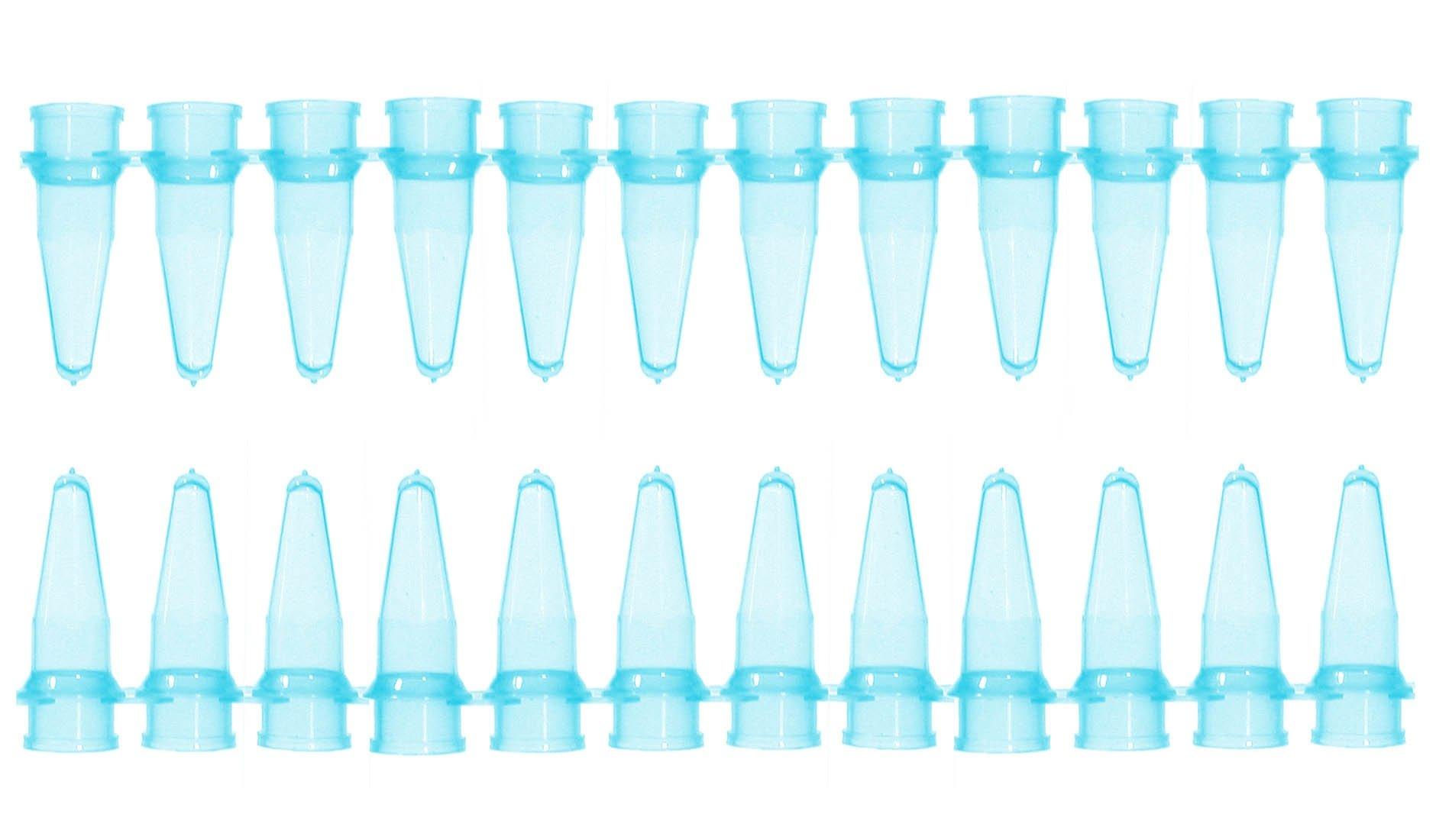 0.2mL Thin Wall Micro Tube - 12 Tubes/Strip - Blue (Pack of 100)
