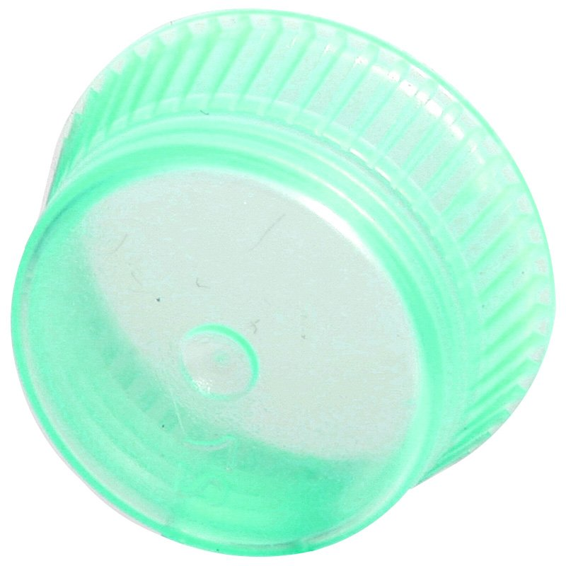 Uni-Flex Safety Caps for 10mm Blood Collecting & Culture Tubes - Green