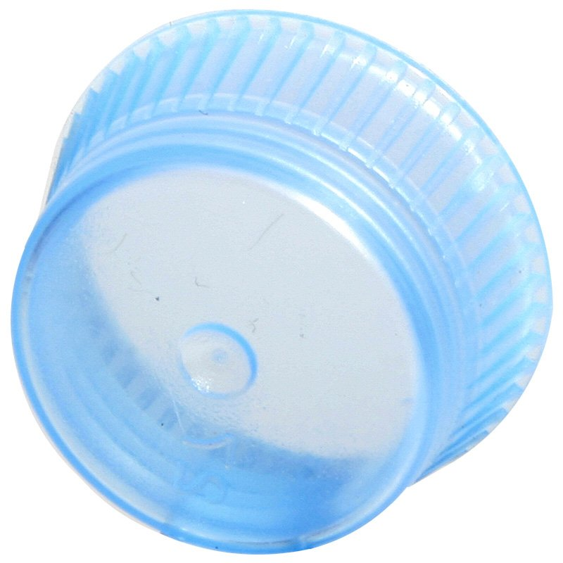 Uni-Flex Safety Caps for 10mm Blood Collecting & Culture Tubes - Blue