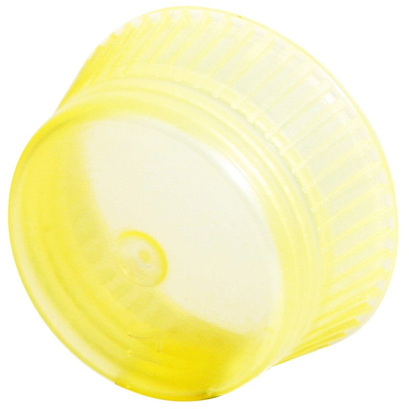 Uni-Flex Safety Caps for 10mm Blood Collecting & Culture Tubes - Yellow