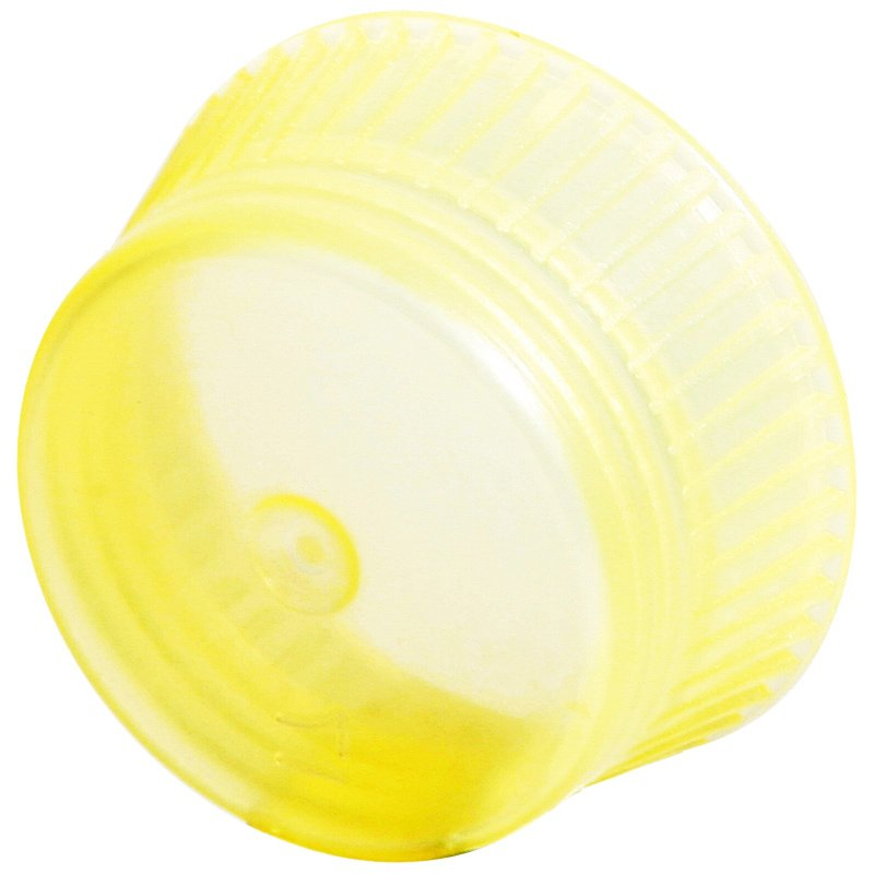 Uni-Flex Safety Caps for 12mm Culture Tubes & 13mm Blood Collecting Tubes - Yellow