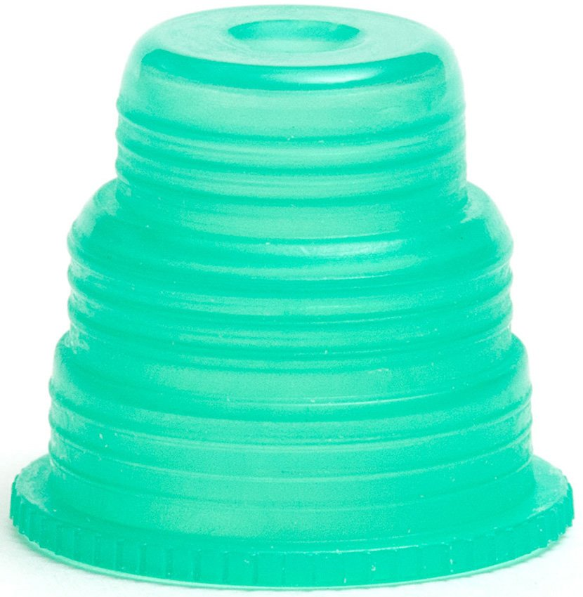 Hexa-Flex Safety Caps For 10mm, 12mm, 13mm, 16mm and 18mm Blood Collection and Culture Tubes - Green