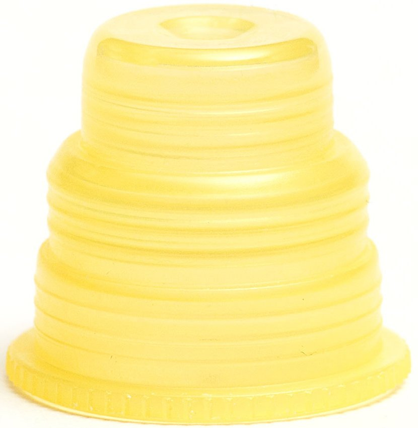 Hexa-Flex Safety Caps For 10mm, 12mm, 13mm, 16mm and 18mm Blood Collection and Culture Tubes - Yellow